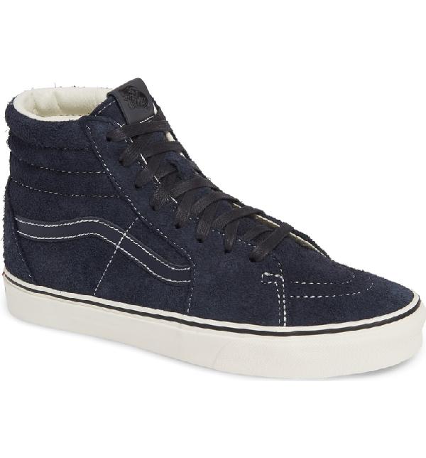 7f8d3b1311 Vans Sk8-Hi Hairy Suede Sneaker In Sky Grey  White