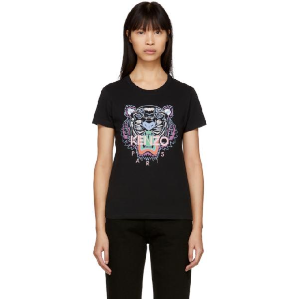 99 T Tiger Classic Shirt Black In Kenzo E9I2DH