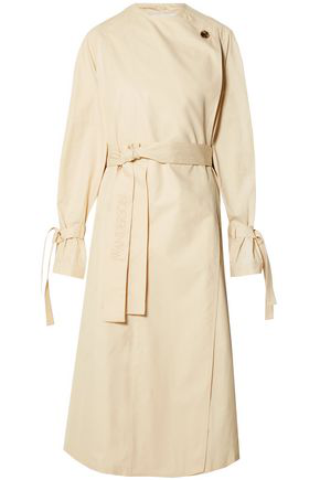 Jw Anderson J.W.Anderson Woman Oversized Cotton-Twill Trench Coat Ecru