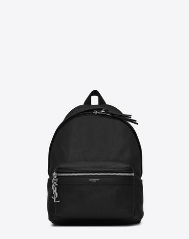 Saint Laurent Mini City Backpack In 1000 Black