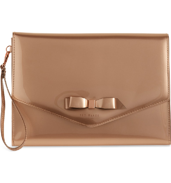 ad3cb0e301f Ted Baker Cersei Envelope Clutch - Pink In Rose Gold | ModeSens