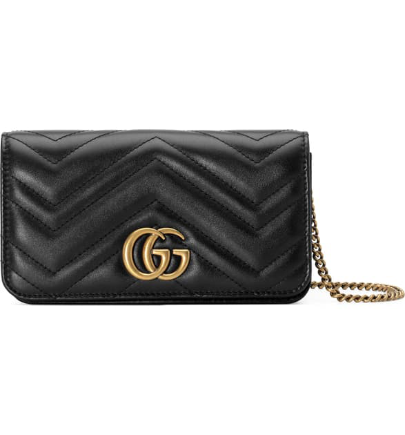 Gucci Marmont 2.0 Leather Shoulder Bag - Black In Nero
