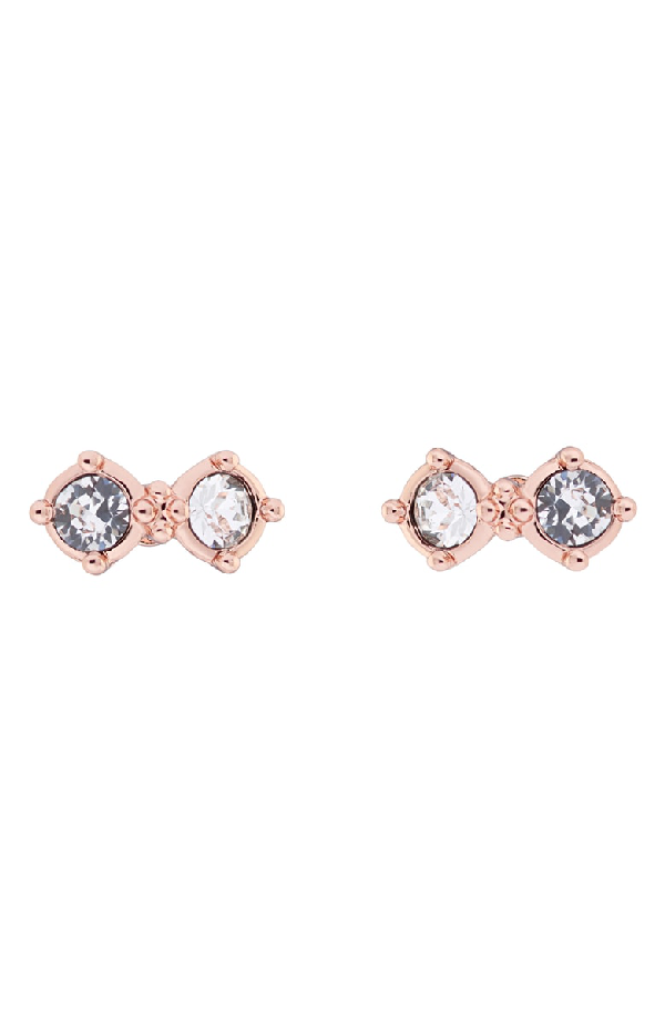 b8f3c426a11ab Eliora Princess Sparkle Stud Earrings in Rose Gold/ Crystal