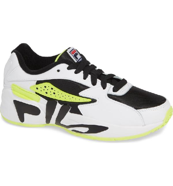 075b266d5a99 Fila Mindblower Vintage Runners In Black White Green
