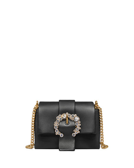 f502e22e1 Tory Burch Greer Crystal Embellished Leather Crossbody In Black ...