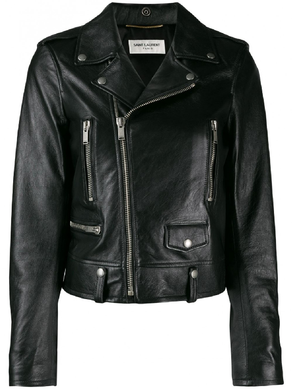Saint Laurent Motorcycle Jacket In Lambskin In Black