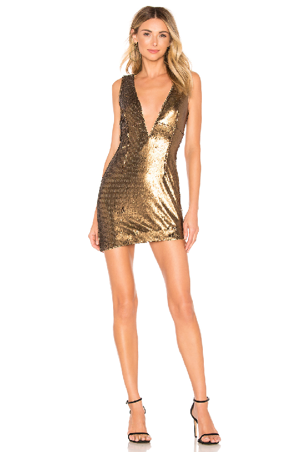 Nbd Dinara Mini Dress In Bronze