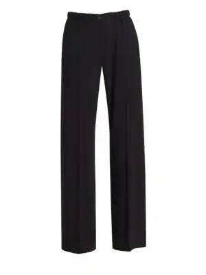 6c60bfe10c Stretch Crepe Fluid Pants in Solid Black