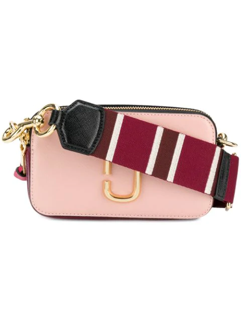 Marc Jacobs The Snapshot Leather Crossbody Bag In 697 Rose Mu