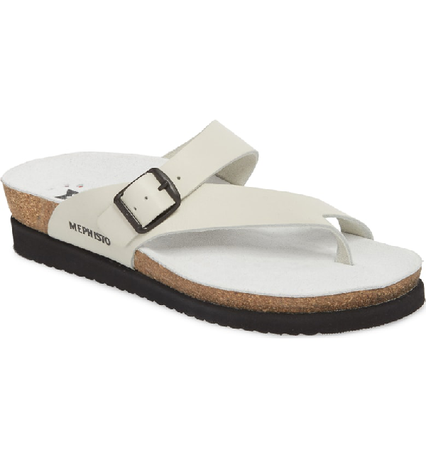 f495f9ff81b Mephisto 'Helen' Sandal In Soft White Waxy Leather | ModeSens