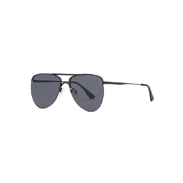 8fd79337fe Le Specs The Prince Aviator-Style Sunglasses In Black
