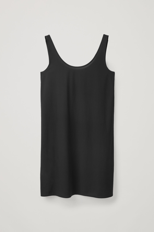 Cos Seamless Slip Dress In Black