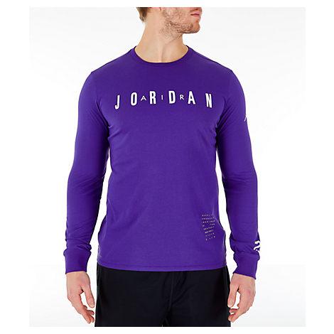 9ade69bdc9a2 Nike Men s Air Jordan Basketball Long-Sleeve T-Shirt