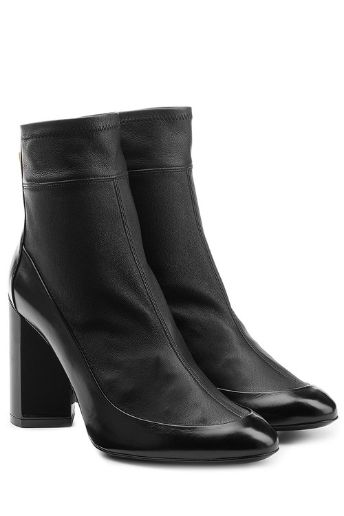 Pierre Hardy Leather Ankle Boots In Black