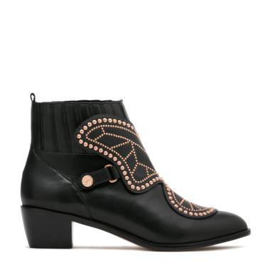 ef84c1b01e17 Sophia Webster Black Studded Leather Karina Mid Ankle Boots