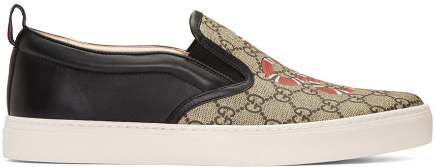 eece4472ce6 Gucci Kingsnake Print Gg Supreme Slip-On Sneaker In 8978 Multi ...