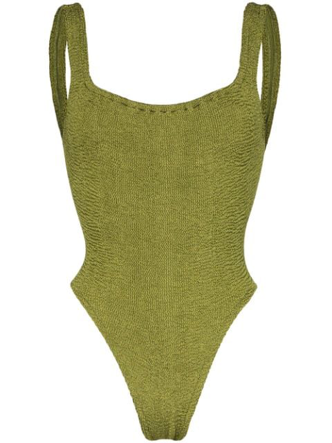 Hunza G Opening Ceremony Isolde One-piece Swimsuit In Green