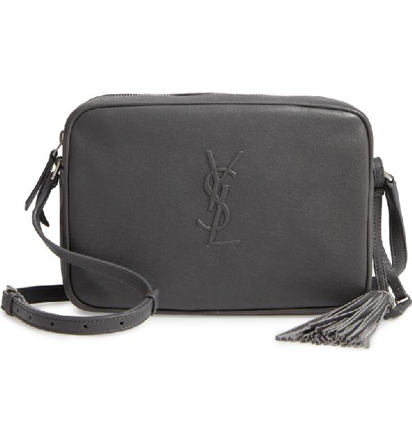 f05cf35d442 Saint Laurent Small Mono Leather Camera Bag - Grey In Storm | ModeSens