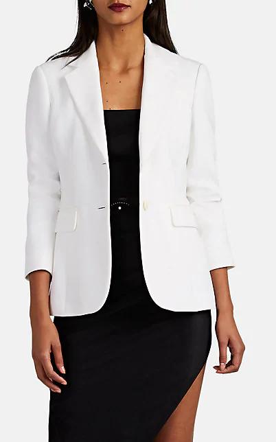 Altuzarra Fenice Two-Button Blazer In White