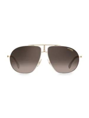 f17caedbfae Carrera 60Mm Bound Aviator Sunglasses In White Gold