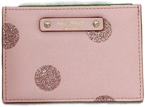 buy popular 9e60e 3a917 Kate Spade Haven Lane Graham Glitter Polka Dot Business Card Holder Credit  Card Holder in Glitter Pink