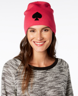 1045e4d6b34e1 Kate Spade Spade Beanie - Pink In Begonia Bloom Black