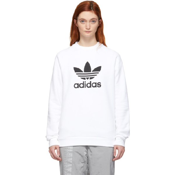 cecbcb5a Adidas Originals White Trefoil Warm-Up Sweatshirt | ModeSens