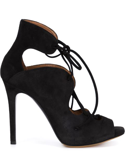 Tabitha Simmons Reed Suede Lace-Up Ankle Boots In Black