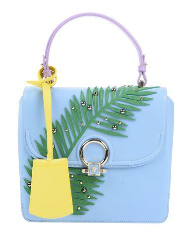 Versace Handbag In Azure