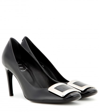 Roger Vivier Belle De Nuit Patent Leather Pumps In Black