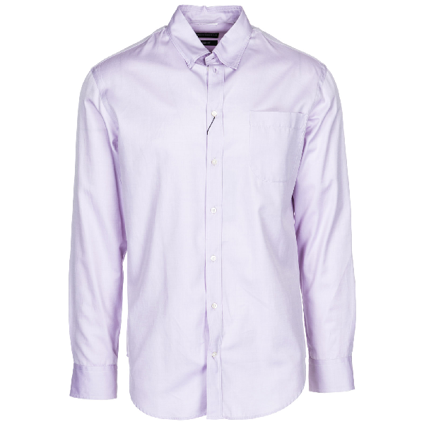 Emporio Armani Men's Long Sleeve Shirt Dress Shirt In Pink