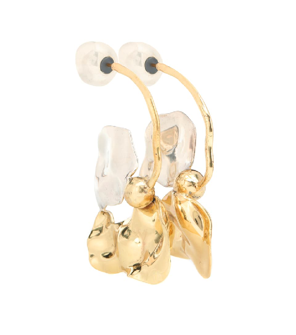 Ellery Chess Warped Collage Earrings In Gold