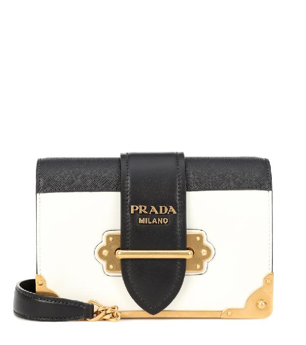 824f451d09b0 Prada Cahier Leather Shoulder Bag In Black | ModeSens