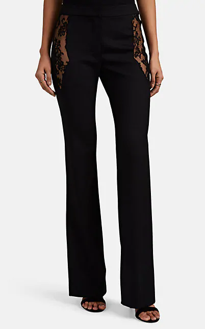 Altuzarra Anniversary Collection - Vespa Stretch Wool Flared Pants In Black