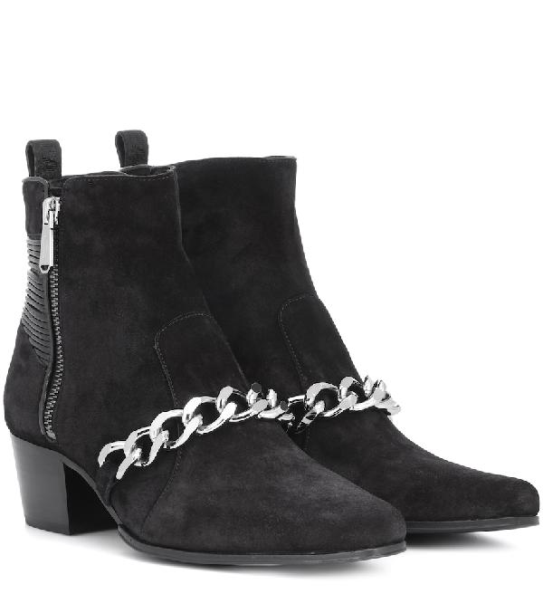 Balmain Ella 50 Black Chain Ankle Boots