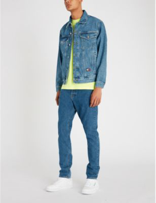 2169fb25 Tommy Jeans 6.0 Crest Denim Trucker Jacket In Mid Denim Blue | ModeSens