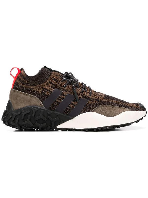 Adidas Originals Atric F/2 Tr Suede-trimmed Primeknit Sneakers - Brown In Black