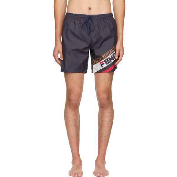 f363d5e406 Fendi Men's Mania Graphic Print Swim Trunks In Blue | ModeSens