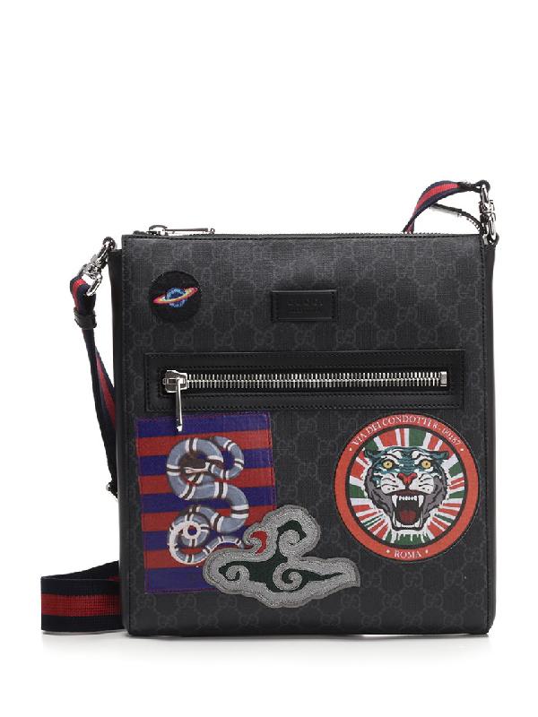 7b46af76226 Gucci Night Courrier Gg Supreme Messenger Bag In Black