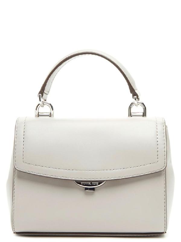 613f4e0c673c3b Michael Michael Kors Ava Extra Small Leather Crossbody Bag In Grey ...