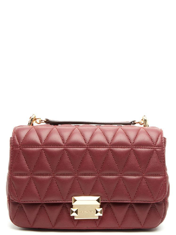 70fa58ae4d1c7 Michael Michael Kors Sloan Quilted Bag In Red