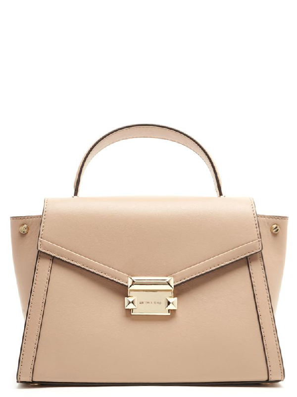 78a4c627bf40 Michael Michael Kors Whitney Medium Satchel In Beige | ModeSens