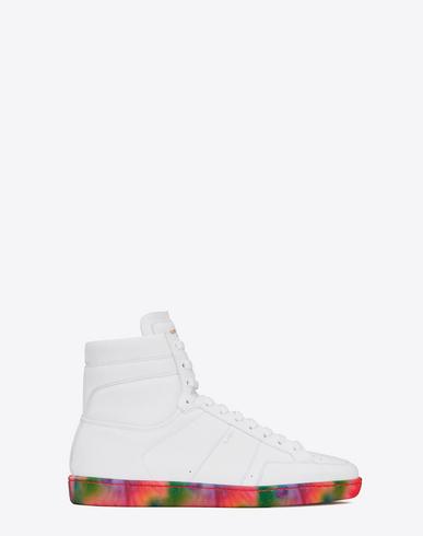 8e95e9ba Signature Court Classic Sl/10H Sneakers In Off White Leather With  Multicolor Tie-Dye Sole