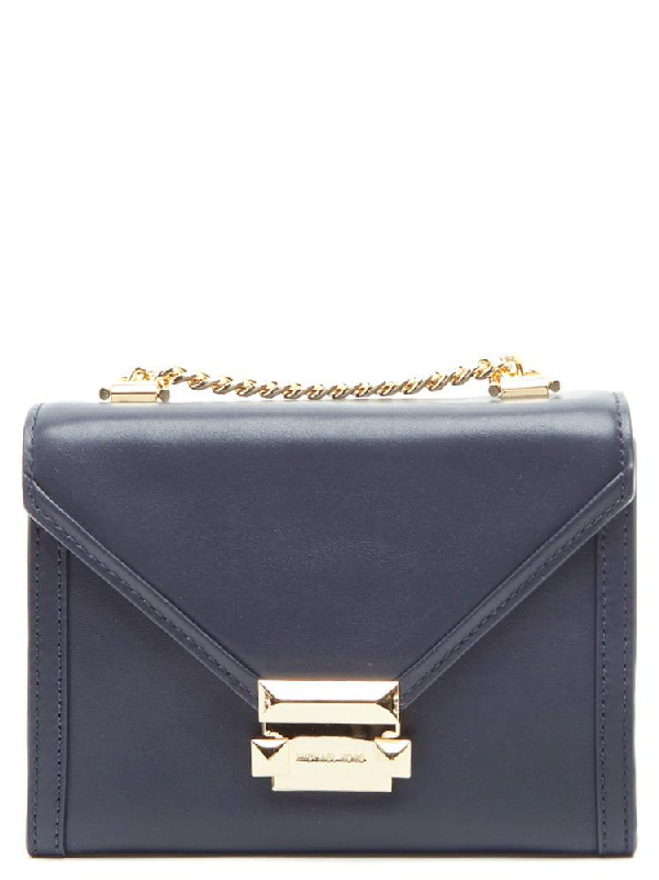 bb9077aab3917e Michael Michael Kors Whitney Small Leather Convertible Shoulder Bag In Blue