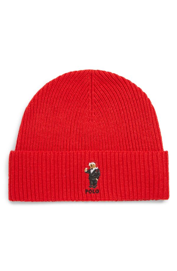 64c2e6fc746 Polo Ralph Lauren Santa Hat Martini Bear Beanie - Red