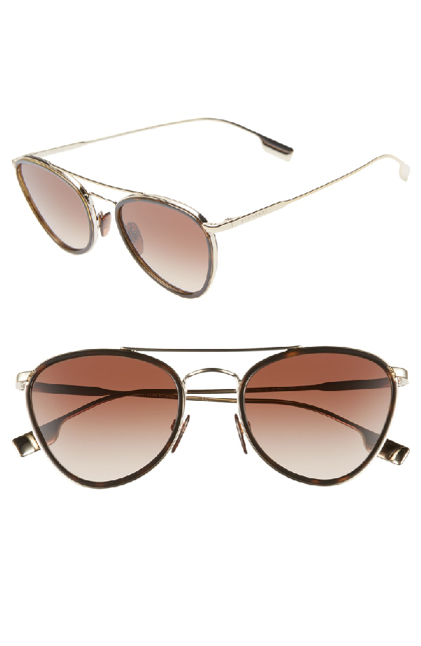 7ac3cdac45 Burberry 51Mm Aviator Sunglasses - Brown  Gold Gradient