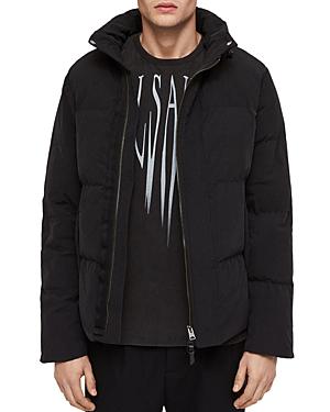 Allsaints Valdek Puffer Jacket In Black