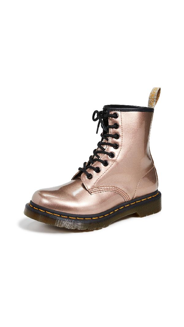 9c5f814ebc5 Dr. Martens 1460 Vegan 8 Eye Boots In Rose Gold | ModeSens