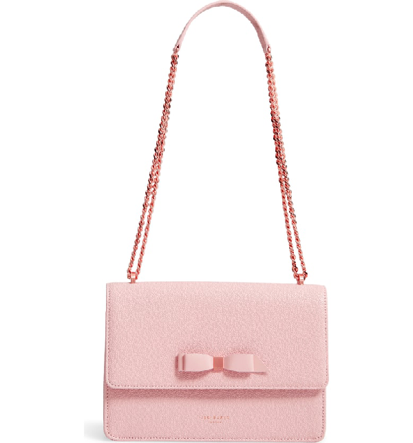 771e5a30d Ted Baker Joannaa Crossbody Pebbled Leather Bag - Pink In Light Pink ...