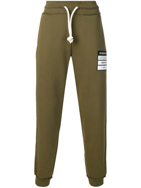 Maison Margiela Stereotype Patch Track Pants In 727 Olive